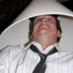 Lamp Shade on Head